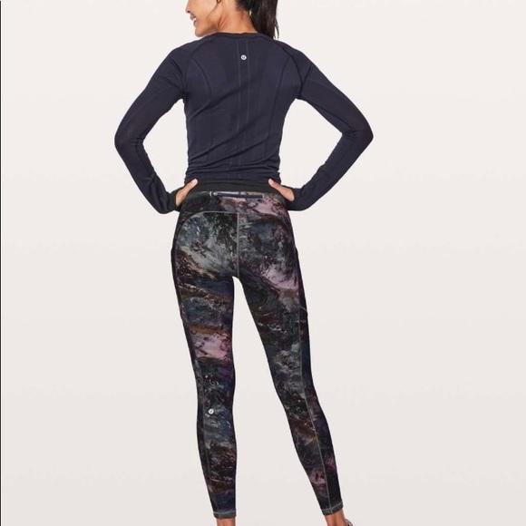 4b29eaacdf4873 lululemon athletica Pants - Lululemon Speed Up Tight Radiant Multi size 4
